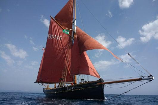 Pilgrim BM45 at sea