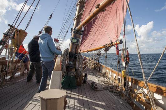 BM45 Pilgrim at sea